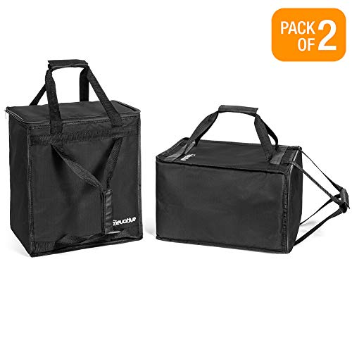 Homevative Reusable Insulated Grocery Bags Hot and Cold Food Storage for Shopping, Travel, and More. Cooler and Thermal Tote set. (Pack of 2) by Homevative