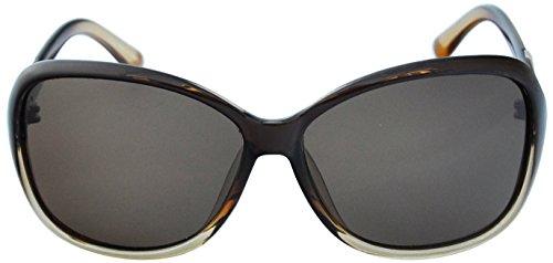 SoMuchSun Unisex Low Nose Bridge Sunglasses (Ira 3516) (Brown Gloss, Brown - Sunglasses Low Bridge
