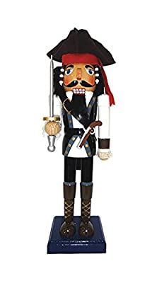 Santa's Workshop Johnny Pirate Nutcracker, 14""