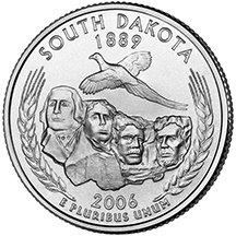 Dakota State Quarter Coin - 2006 P South Dakota Quarter Choice Uncirculated