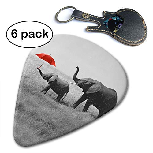 Ivanfield Red Gray Elephant Baby Rain Red Umbrella Celluloid Guitar Picks 6 Pack