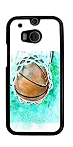 Basketball Sport Hard Case for HTC ONE M8 ( Sugar Skull )