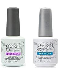 Gelish Dynamic Duo Soak-Off Gel Nail Polish - Foundation Base and Top Sealer