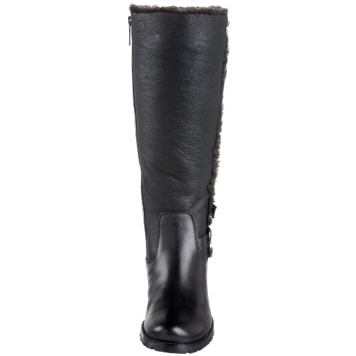 Blondo Womens Fatima Kne-high Boot Svart Nativo Napa Sherling