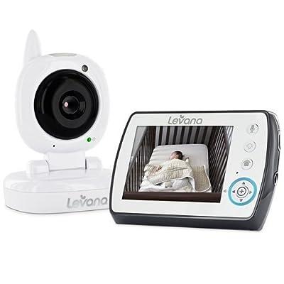 "Levana Ayden 3.5"" Digital Video Baby Monitor with Night Vision Camera, Temperature Monitoring, Talk to Baby Two-way Intercom and Zoom"