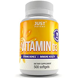 Vitamin-D3-Supplement-by-Just-Potent-500-Softgels-5000-IU-Strong-Bones-Immune-Health-Full-Benefits-of-the-Sun-in-a-Tiny-Softgel-500-Days-of-Uninterrupted-Supply-Gluten-Free