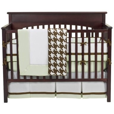 Metro Lime/Choc 4 pc Crib Set by Bacati