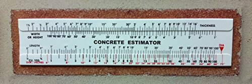 Concrete Slide Ruler Volume Computer Calculator 100 Yard Lot of 2pcs (Estimator Ruler)