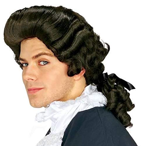 Gaston Costume - Rubie's Costume Man Wig, Black, One