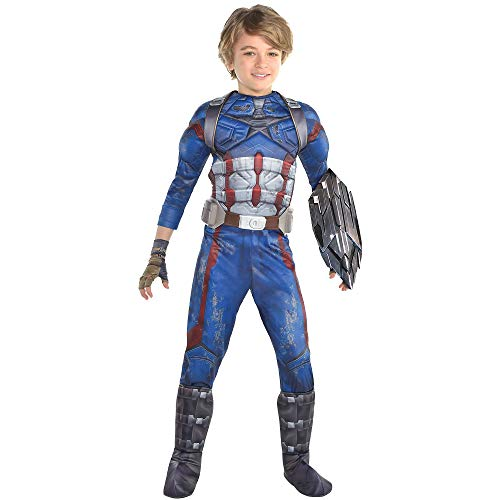 Costumes USA Avengers: Infinity War Captain America Costume for Boys, Size Small, Includes a Jumpsuit, Gloves, and More]()