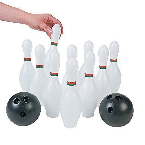 Kids Plastic 12 Pc. Bowling Set Party Toys