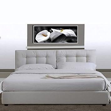 Letto Matrimoniale Con Rete.Bagno Italia Letto Matrimoniale 220x174 In Ecopelle Bianco Moderno A