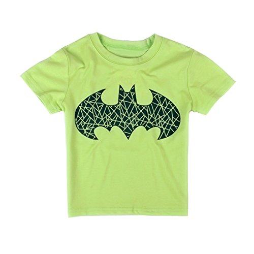 EITC Little Boys Cartoon Batman Cotton Short Sleeve T-Shirts Clothing 4T (Boys Halloween Clothes)