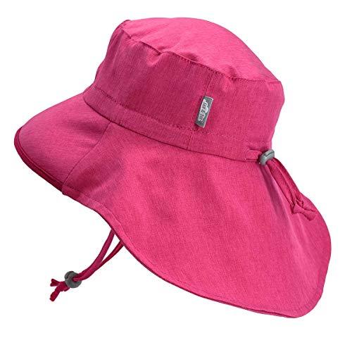 Girls Quick-Dry Pool Swim Sun-Hats 50+ UPF Adjustable (L: 2Y - 5Y, Hot - Clothing Kids Hats