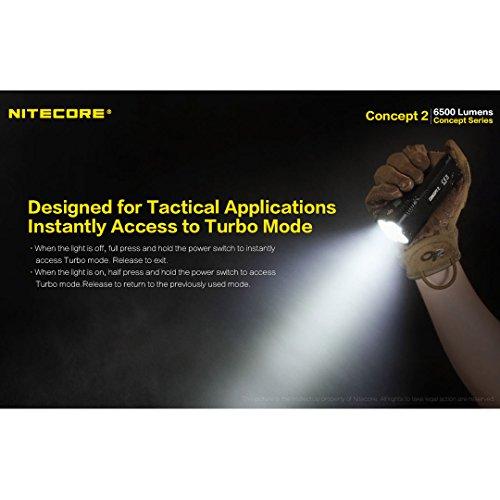 NITECORE Concept 2 C2 6500 Lumen Super Bright Compact Rechargeable Flashlight