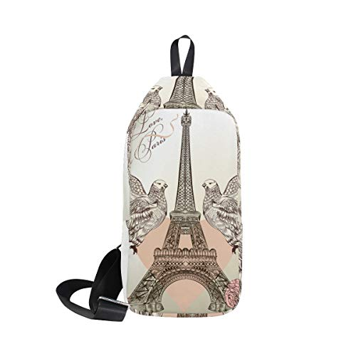 Waterproof Cross For amp; Sling Women Shoulder Valentine Bennigiry Bag Eiffel Tower Men Body Chest Small Backpack zx7Yw