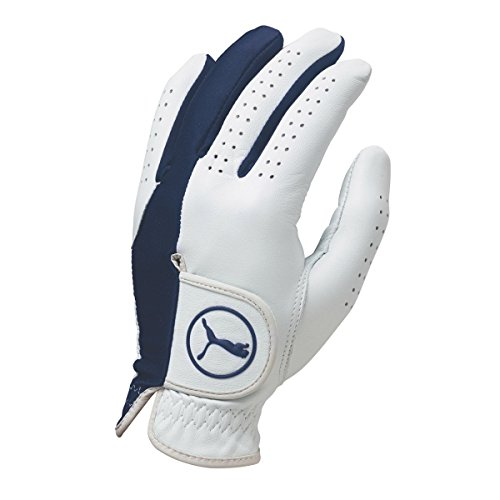 Puma Golf Men's Pro Formation Hybrid CLH Glove, White/Monaco Blue, Medium/Large, Left Hand