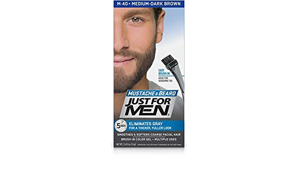 JUST FOR MEN MOUSTACHE [MEDIUM DARK BROWN]: Amazon.es: Salud y cuidado personal