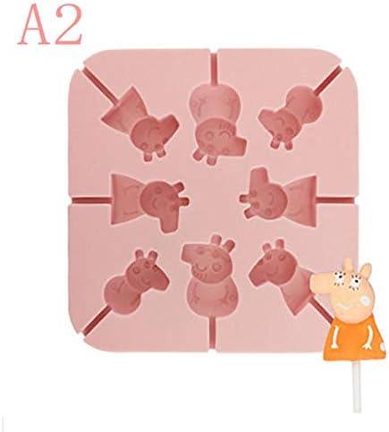 FSHB DIY küche backen Werkzeug silikon Candy Lollipop Formen für Kinder Kuchen Schokolade Dekoration küchenform, a2