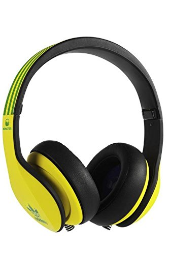 Monster Over-Ear Headphones Adidas Limited Edition with Apple ControlTalk Handsfree Mic and Music Controls (Yellow and Green over Black)