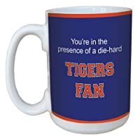 Tree-Free Greetings lm44462 Tigers College Football Fan Ceramic Mug with Full-Sized Handle, 15-Ounce