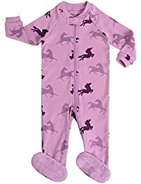 Little Baby Girls Footed Pajama Sleeper 100% Cotton Pjs Size 6M-5T