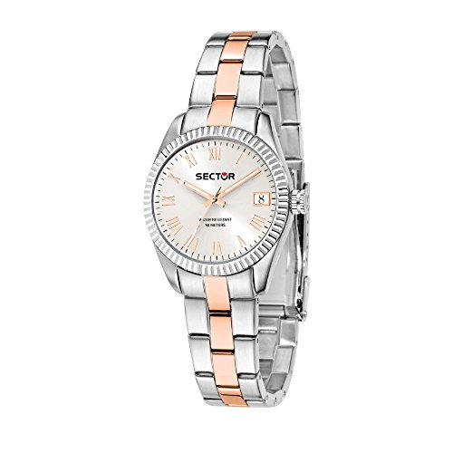 SECTOR Women's 240 Analog-Quartz Sport Watch with Stainless-Steel Strap, Pink, 18 (Model: R3253579527