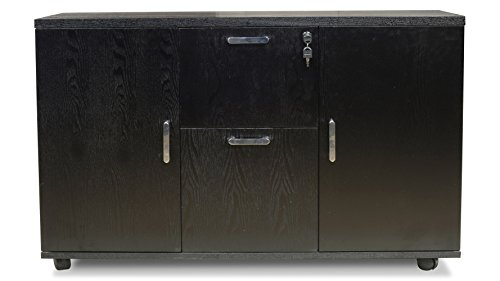 Modern Cleveland Side Cabinet Dark Oak by Zuri Furniture
