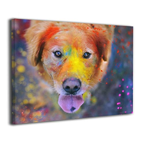 Achujuyou Modern Wall Art On Canvas Animals Dog Paint Splatter Frameless Artwork Bedroom Living Room Decorative Painting Modern Gallery 16