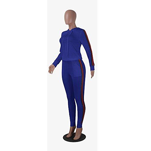 Azul suéter Azul L Noche de XL Ropa Dos Bar Cuello de Piezas Sombrero Ocio Vestido de Conjunto Corbata qaw6St