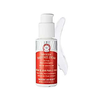 First Aid Beauty Skin Rescue Daily Face Cream, Red, 2.0 Fluid Ounce