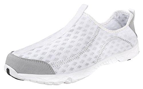 Fortis Men's TreadLite Water Shoes | Barefoot | Quick-Dry | Aqua | White 13
