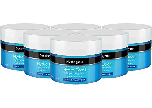 - Neutrogena Hydro Boost Hydrating Whipped Body Balm with Hyaluronic Acid, 6.7 Ounce (Pack of 6)