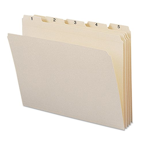 Smead 11769 Indexed File Folders 1/5 Cut Indexed 1-31 Top Tab Letter Manila 31/Set ()