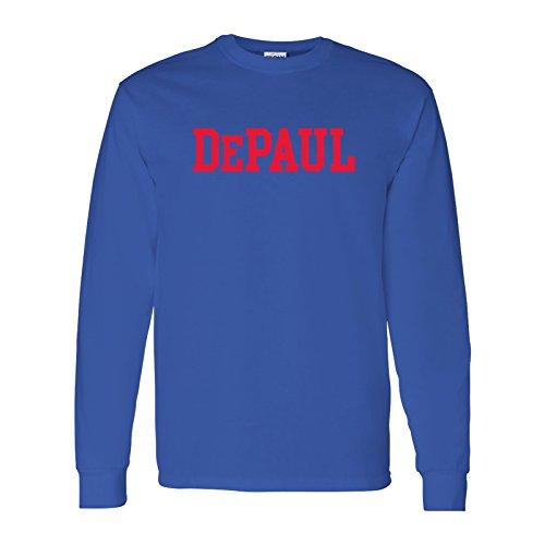 size 40 060a9 138f8 AL01 - DePaul University Blue Demons Basic Block Long Sleeve - Small - Royal