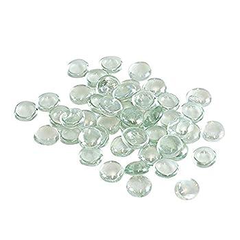 Houseables Clear Marbles, Pebbles for Vases, 5 LB, 500-600 Stones, Flat Bottom, Round Top, Glass Rocks, Bowl Filler Gems, Decor, Centerpieces, Aquarium