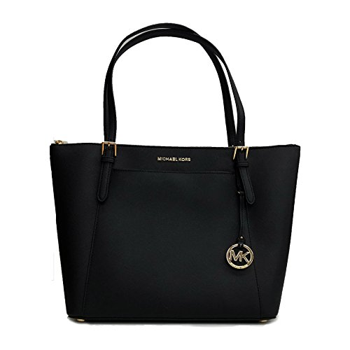 Michael Kors Ciara LG Tote Bag Leather Black (35T8GC6T9L) (Black Leather Bag)
