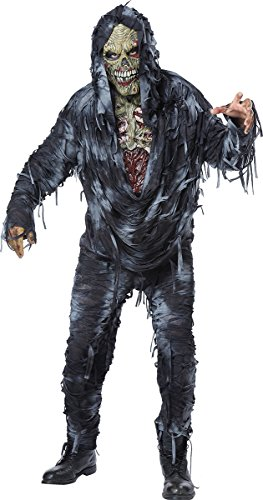 California Costumes Men's Rotten to the Core Costume, Black/Grey, (Adult Zombie)