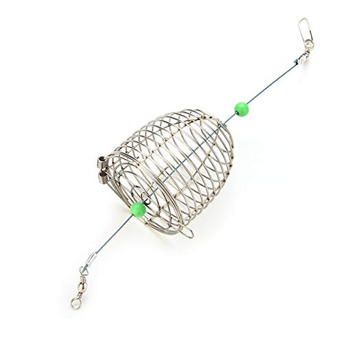 Fishing Bait Cage - 1 Piece Small Bait Cage Fishing Trap Basket Feeder Holder Stainless Steel Wire Fishing Lure Cage Fish Bait Fishing Accessories Tackle