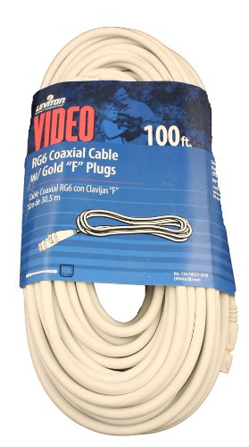 Amazon.com: Leviton C6851-5GE RG6 Coax Cable, Gold Plated, 50-Feet, Black: Home Improvement