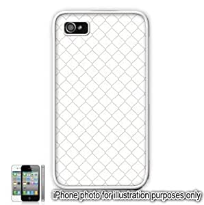 Pastel Pink Diamond Fence Pattern Apple iPhone 4 4S Case Cover Skin White