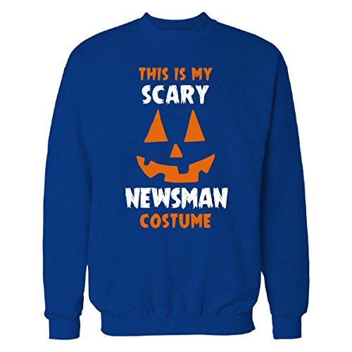 [This Is My Scary Newsman Costume Halloween Gift - Sweatshirt Royal 4XL] (Newsman Costume)