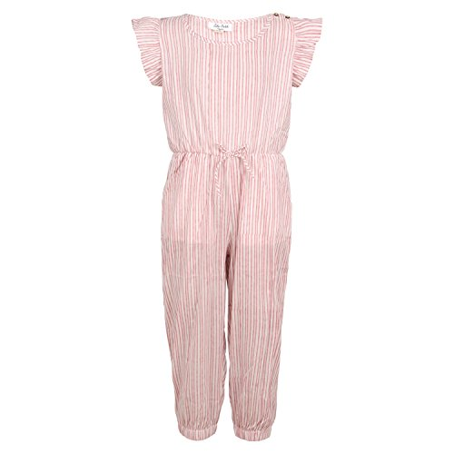 Organic+cotton Products : Organic Toddler Girls Dress By [Zahi Organics]-100% organic cotton –toddlers organic pink and white striped print cambric jumpsuit Collection (Meme)