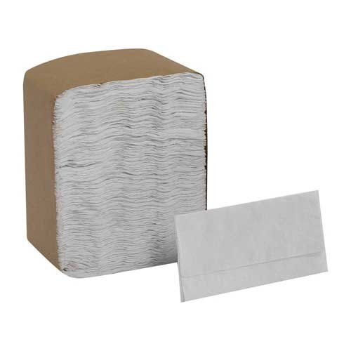 Mini MorNap White Full Fold Mini Fold Dispenser Napkin, 13 x 12 inch - 6000 per case.