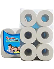 Paneltech Toilet Paper, Toilet Roll, Wood Pulp Toilet Tissue Paper roll, 6 Rolls Toilet Paper 3 Layer Tissue Soft Skin-Friendly Safe for Home Bathroom