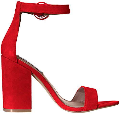 Steve Madden Sandalo Friday RED Suede Red P5Ozy