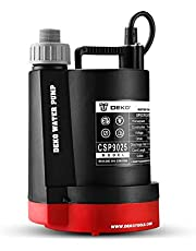 DEKOPRO Submersible Water Pump 1/4 HP 1850GPH Thermoplastic Utility Pump Portable Electric Water Removal Pump for Swimming Pool Garden Tub Pond with 10-Foot Cord