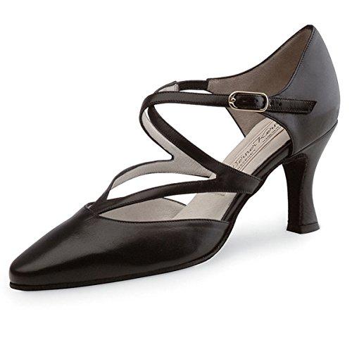 Werner Kern–Zapatos de baile para mujer Fabiola 6,5piel negro