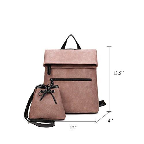 Fanshu en sac Élégant dos à femmes Rosé Noir loisir qfZRnpfw