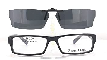perry ellis pe274 2 54x16 polarized clip on sunglasses frame not included